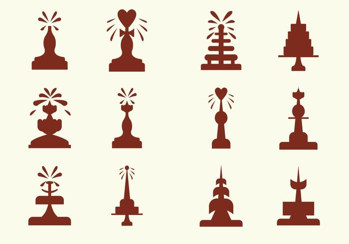 Fun Chocolate Fountain Vector Icons