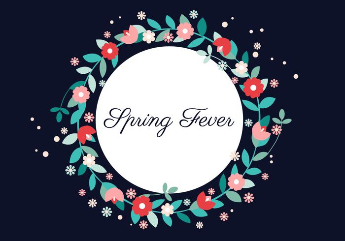 Vector Spring Flower Wreath