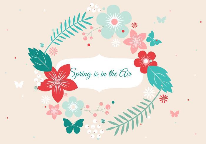 Corona di fiori di primavera vettoriali gratis