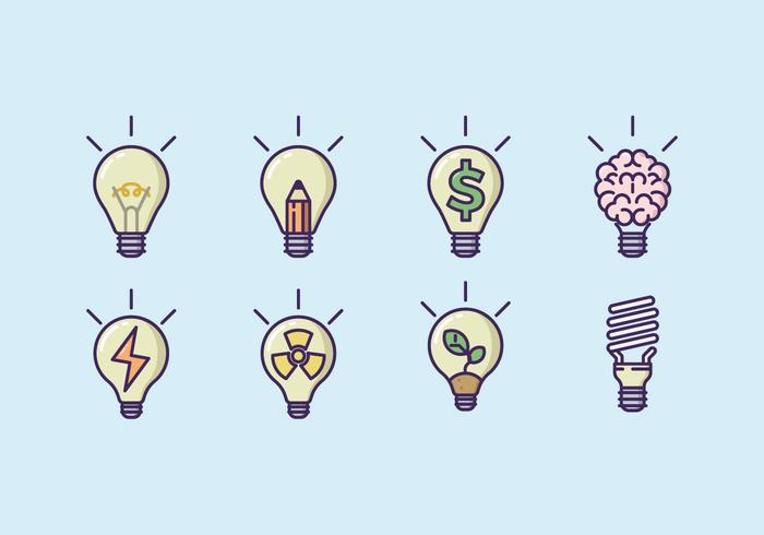 Lightbulb Concept Icon Set