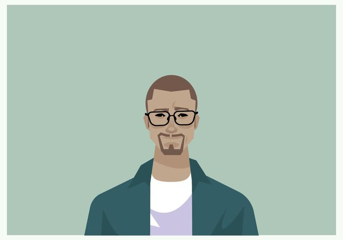 Stylish Man's Headshot  vector