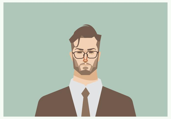 Headshot of Young Businessman Vector