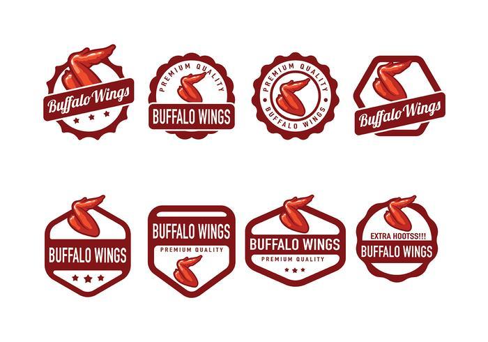 Buffalo Wings Badge Vector