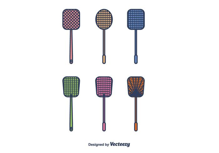Fly Swatter Icons Vector
