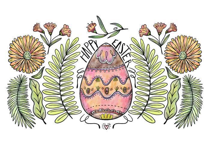 Decorativa Ovo de Páscoa Vector Background