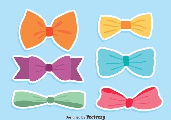 Colorful Hair Ribbon Vectors