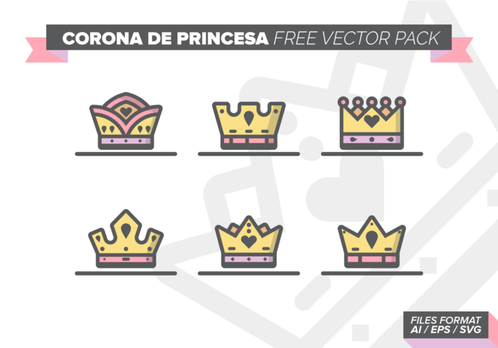 Corona de Princesa gratuito Pacote Vector