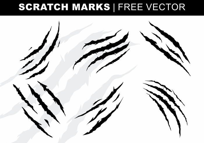 Scratch marcas Vector grátis
