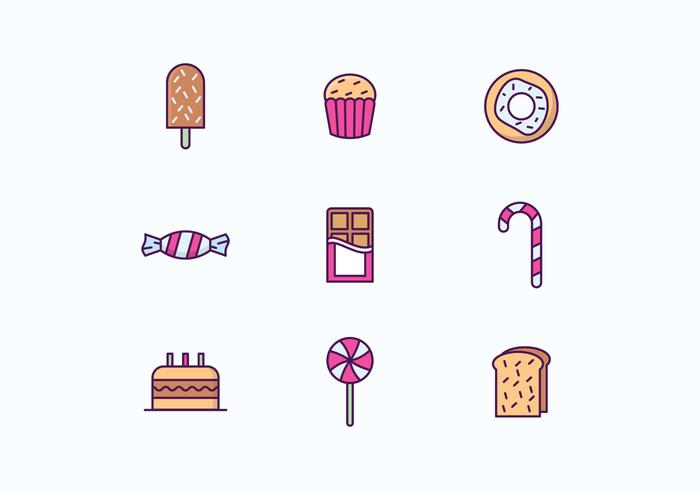 Sweets and Cakes Icon Set