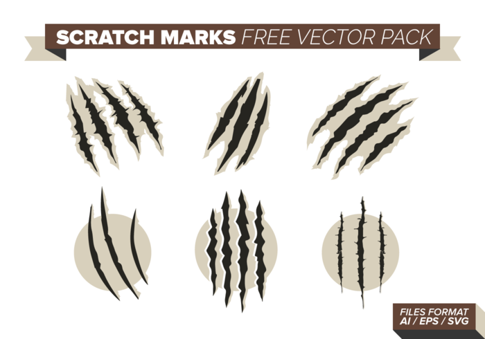 Scratch Marks Free Vector Pack