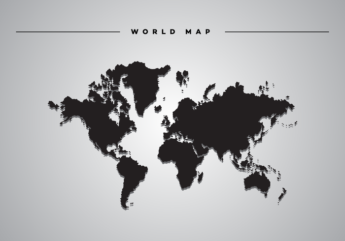 Skugga World Map Vector