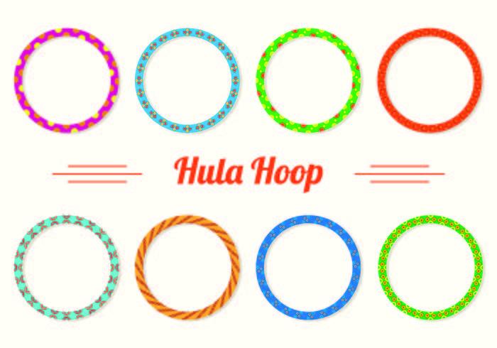 Ensemble d'icônes Hula Hoop