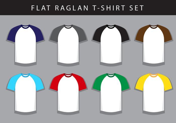 T-shirt Raglan vetor