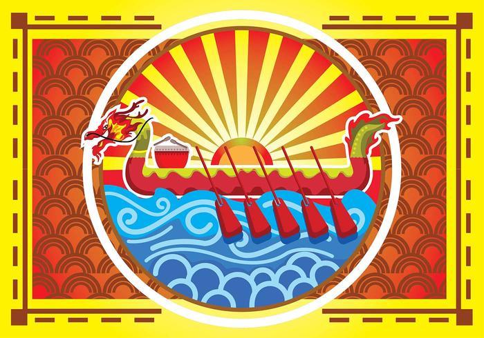 Dragon Boat Festival Poster Background
