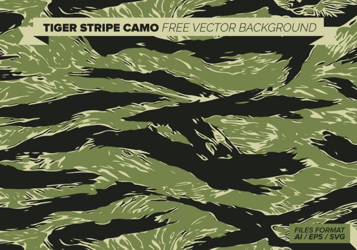 Tiger-Streifen Camo Free Vector Hintergrund