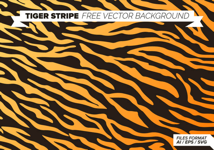 Tiger Stripe Free Vector Background
