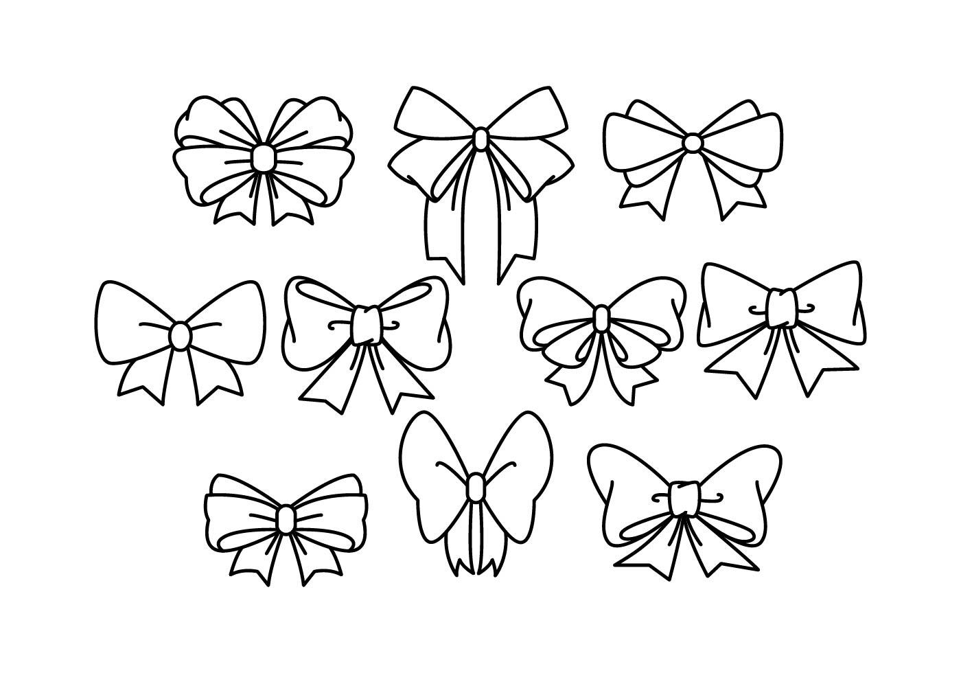 Line Art Ribbon : Hair ribbon vector download free art stock