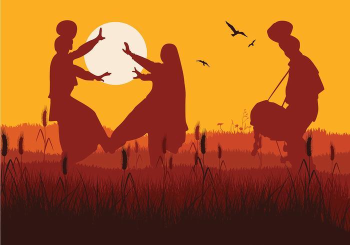 Bhangra Sunset vecteur libre