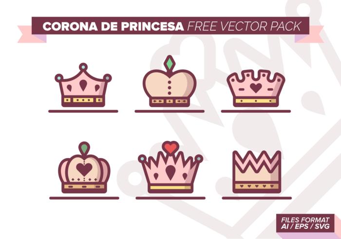 Corona de Princesa Gratis Vector Pack