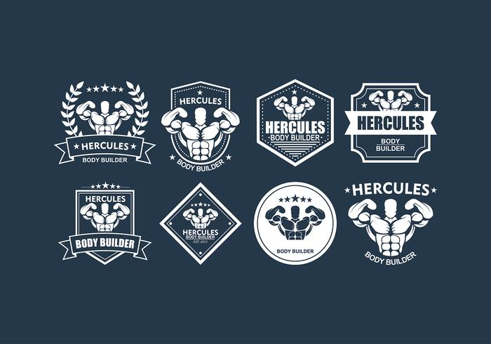 Hércules gimnasio Logo Vector libre