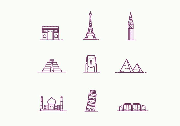 Outline Landmarks Icons