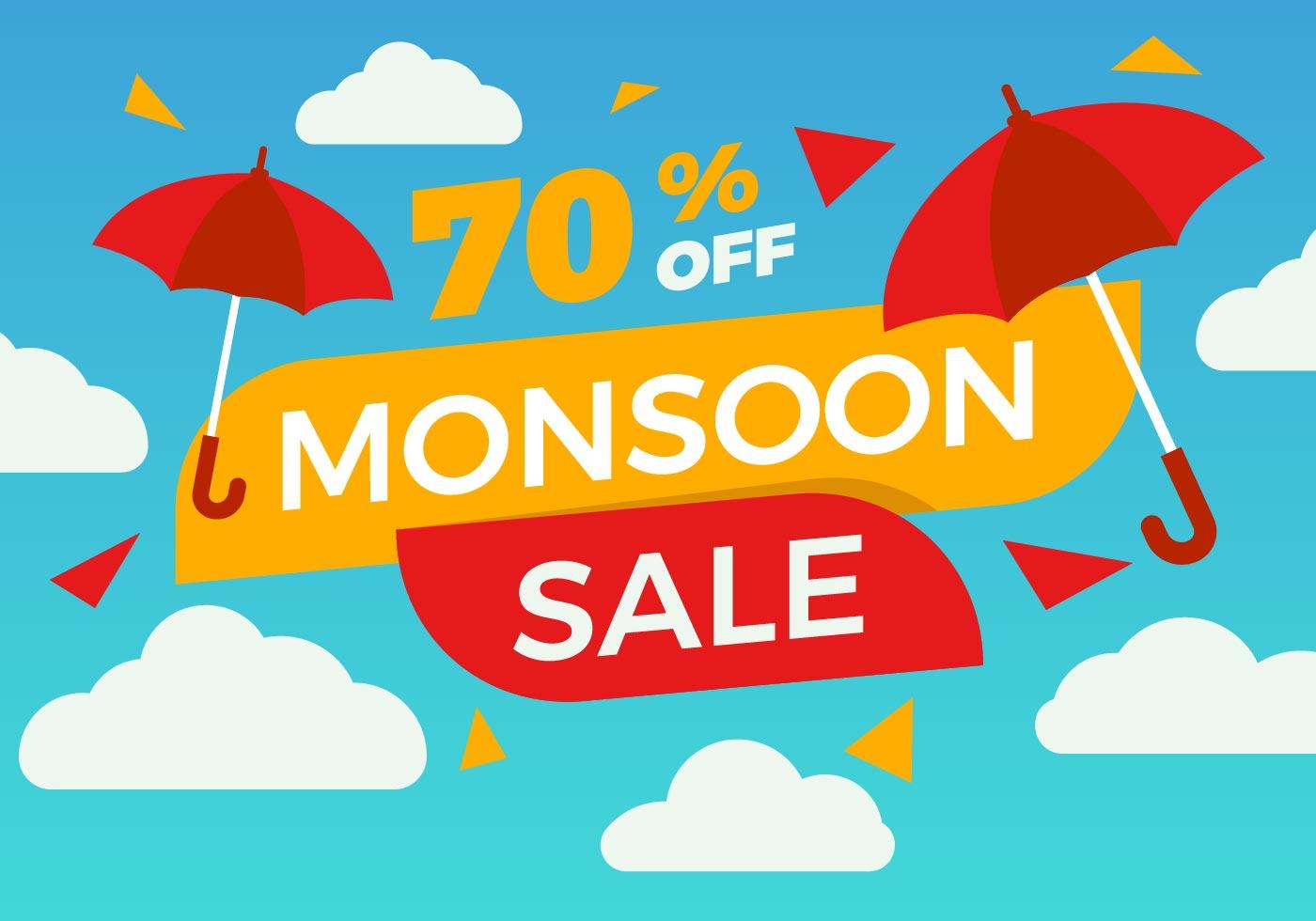 Monsoon gratuit affiche vente vecteur t l chargez de l for Monsoon de