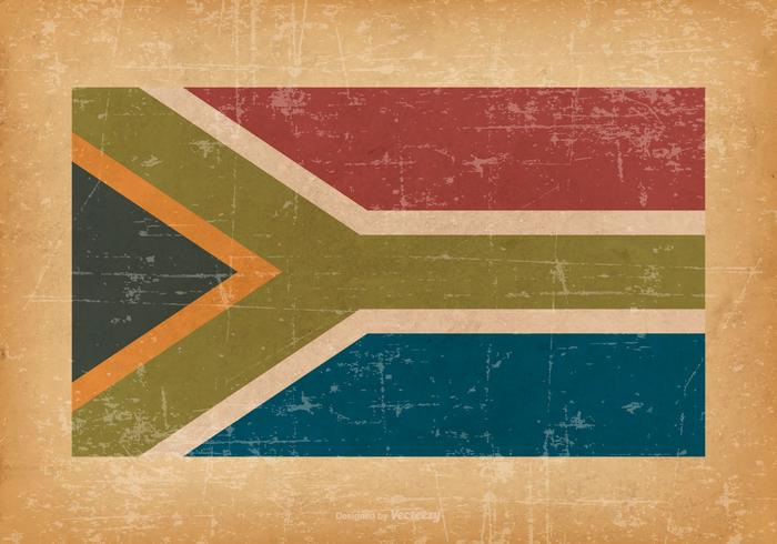 South Africa Flag on Grunge Background