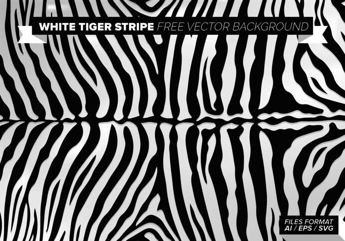Weißer Tiger-Streifen-Free Vector Hintergrund