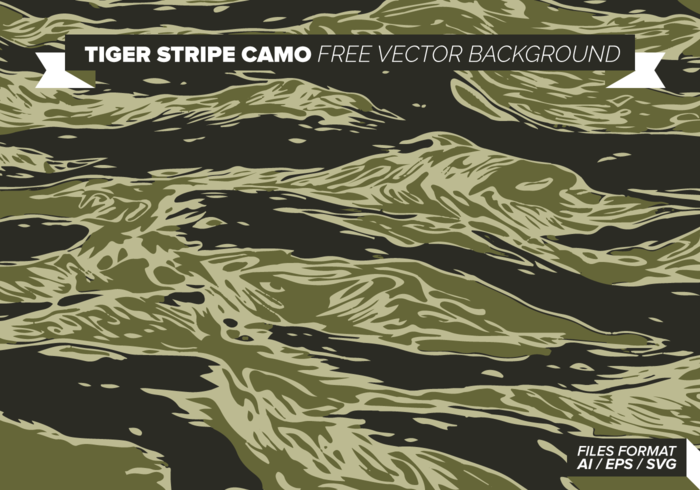 Tiger Stripe Camo Free Vector Background