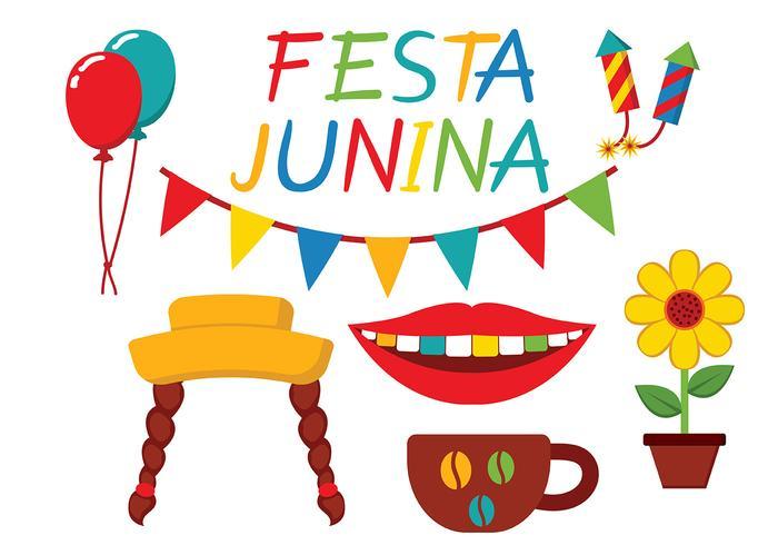 vettore icona festa junina