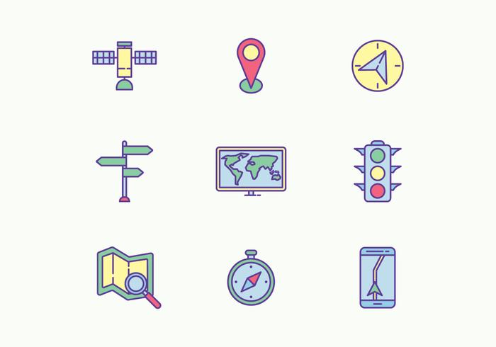 Icônes de navigation vecteur