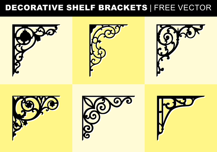 Decorative Shelf Brackets Free Vector