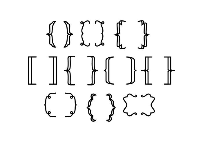 Free Bracket Line Vector