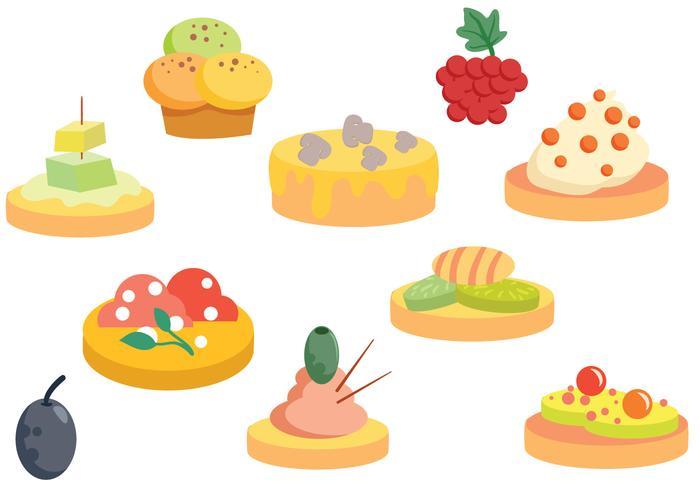 Free finger food vectors download free vector art stock for Canape vector download