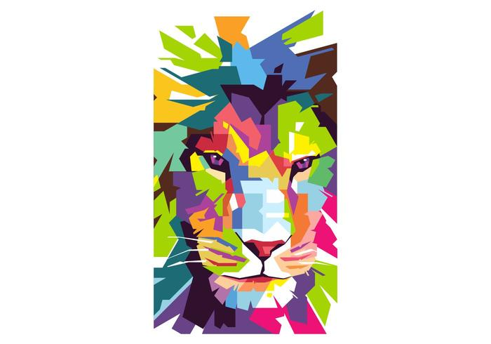 Lion Vector WPAP