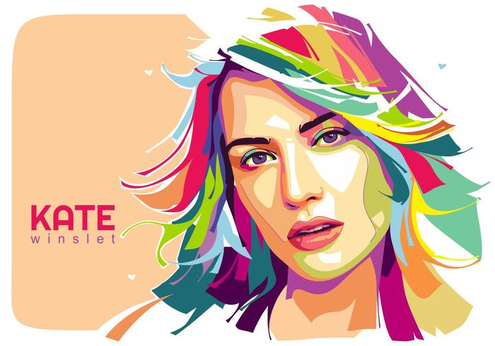 Kate Winslet Vector Popart Retrato
