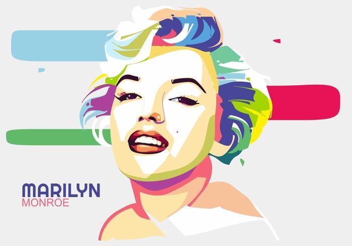 Marilyn Monroe Vector Popart Portrait