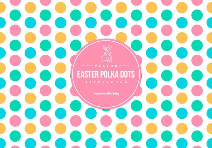 Cute Colorful Easter Polka Dot Background
