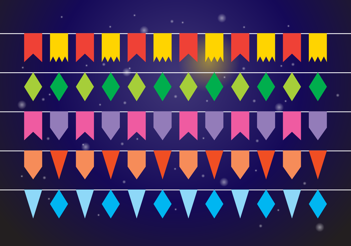 Festa Colorful Bunting Flag Vectors