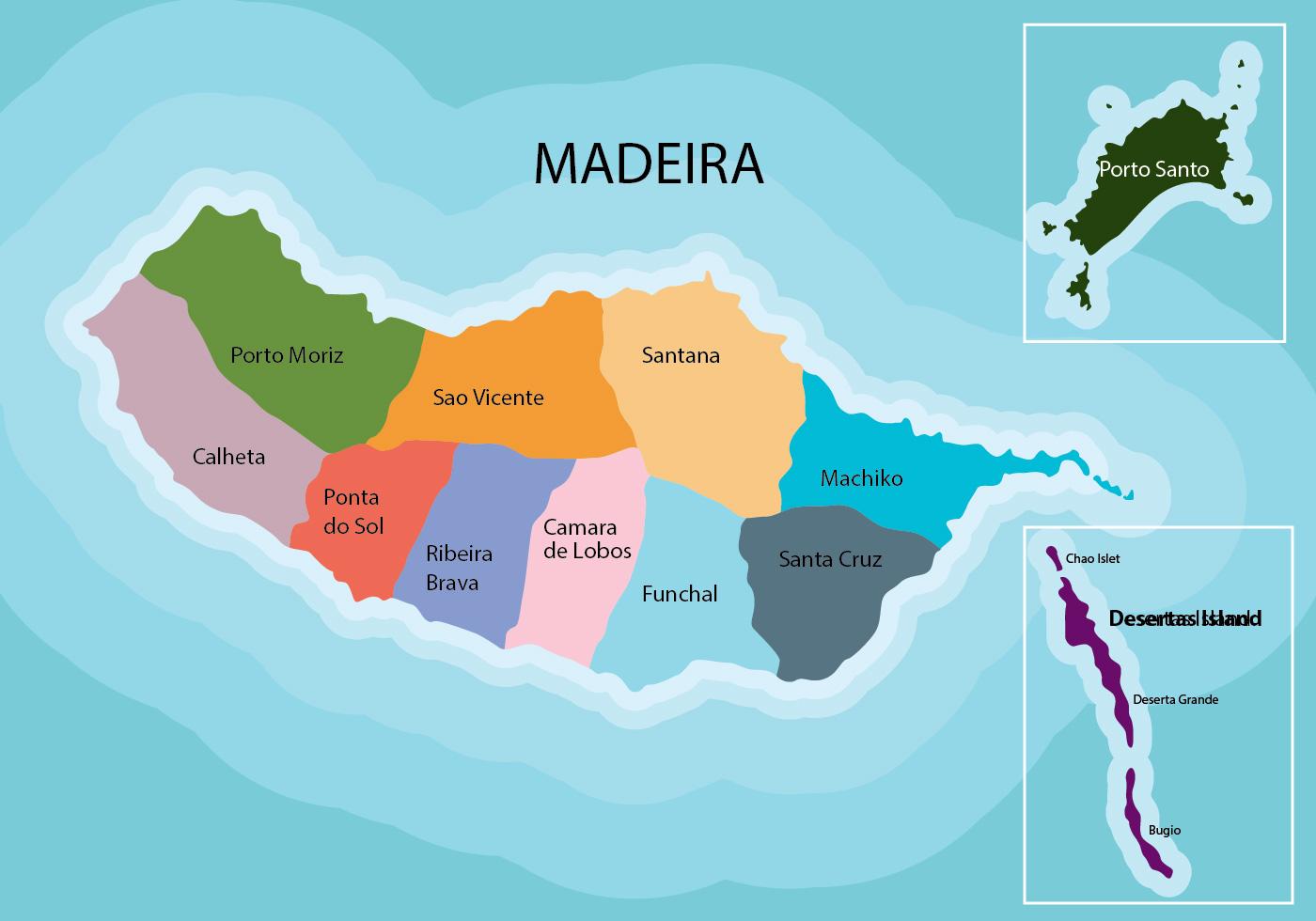Madeira Karta Ladda Ner Gratis Vektorgrafik Arkivgrafik Och Bilder