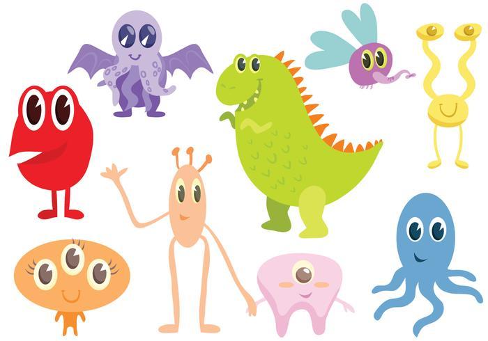Free Monsters Vectors
