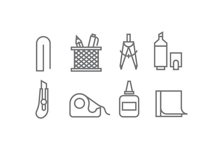 Office Supply Icon Vectors