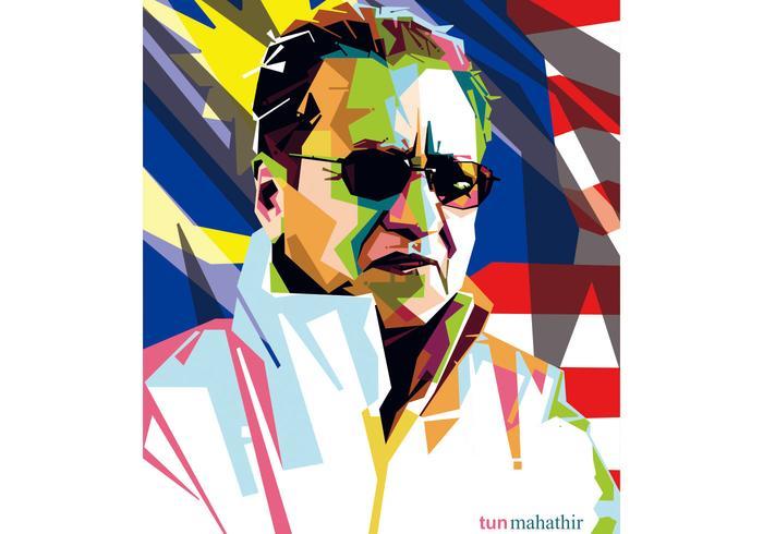 Tun Mahathir WPAP Vector