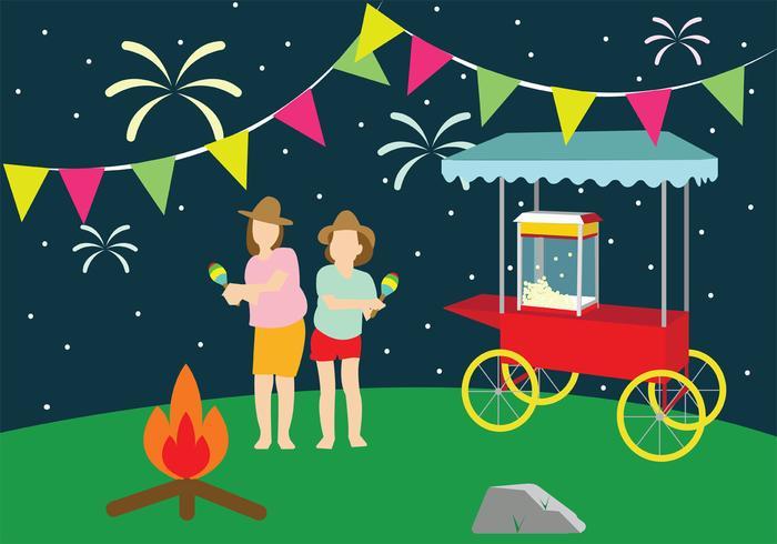 Celebratory Festa Junina Vector