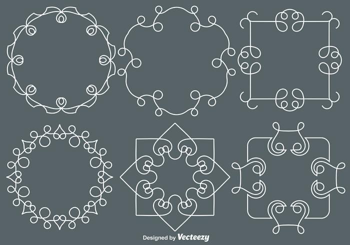Vector Line Style Monogrammen