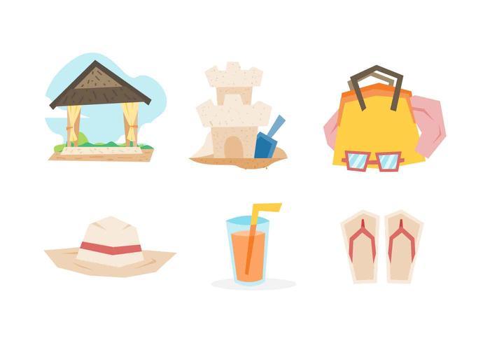 Sobresaliente Playa Con Vectores de vacaciones