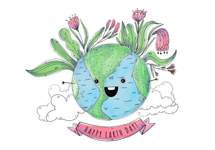 Leuke Wereld Cartoon dag van de Aarde
