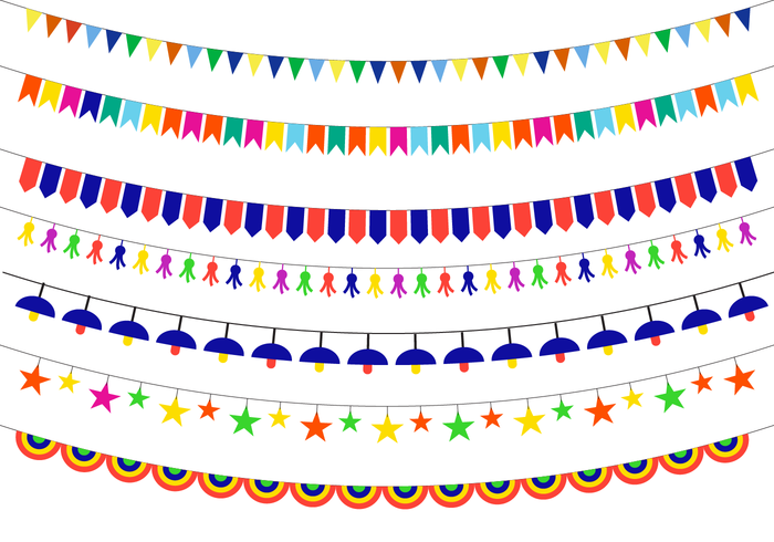 Kleurrijke Festa Vector