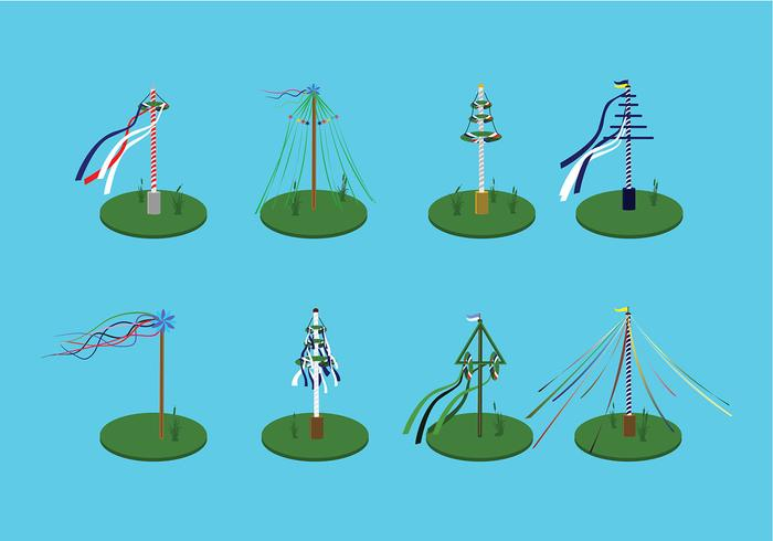 Various Maypole Free Vector