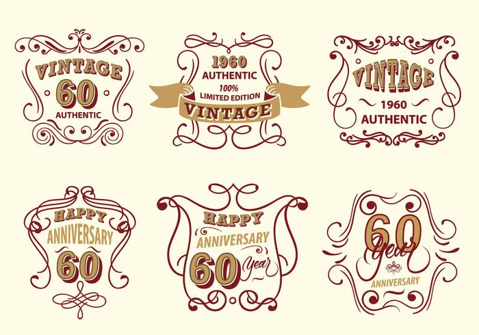 Vintage Label Scrollwork Vector Pack